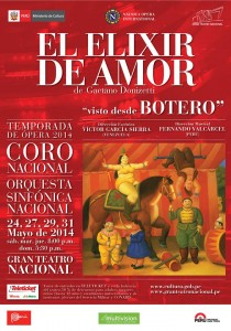 Poster Opera L'Elisir D'Amore seen by Botero