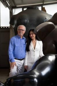 Fernando Botero e Yumi Anna Yaginuma Pietrasanta 2013