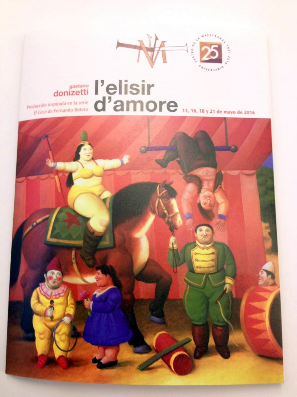 """Elisir D'Amore """"visto da BOTERO"""" Teatro della Maestranza Siviglia"""